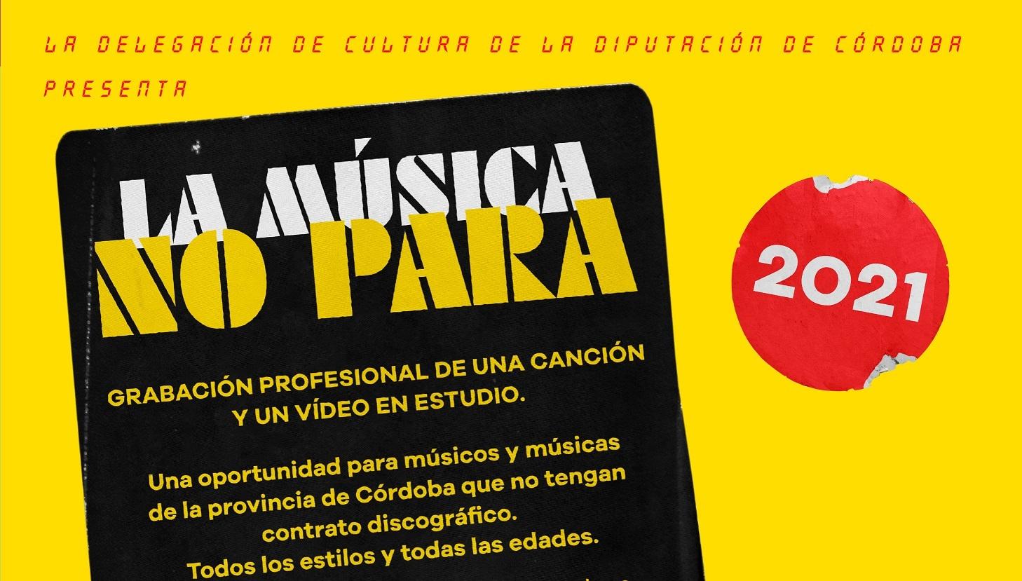 «La música no para» selecciona 6 trabajos entre más de 70 propuestas